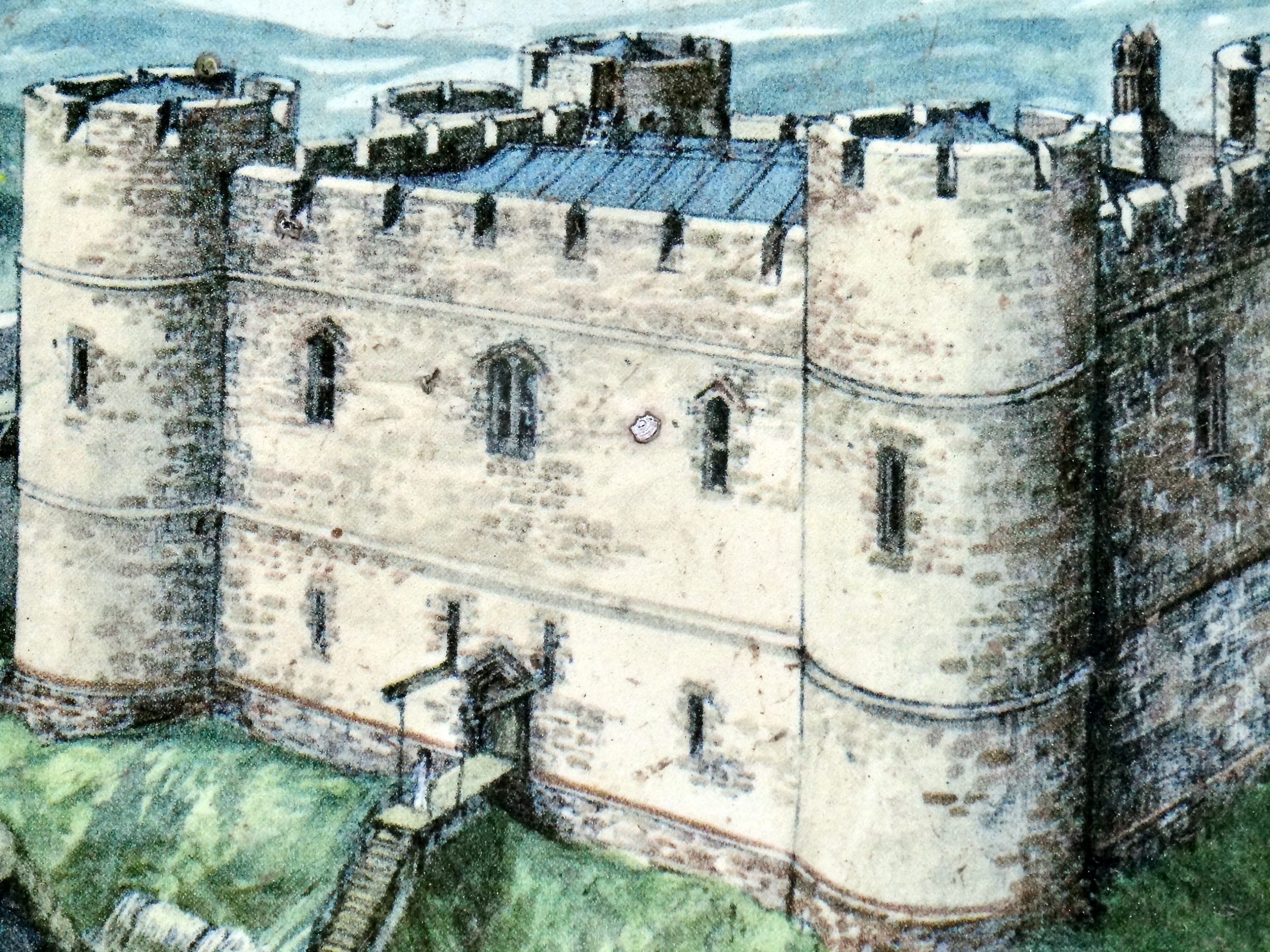 Weobley Castle illustrative view
